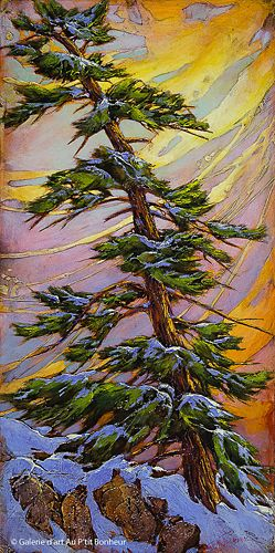 David Langevin, 'The Wind And The Rocks', 24'' x 48'' | Galerie d'art - Au P'tit Bonheur - Art Gallery