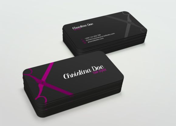 Simple Hairstylist Business Card by Anna Gretke on Creative Market