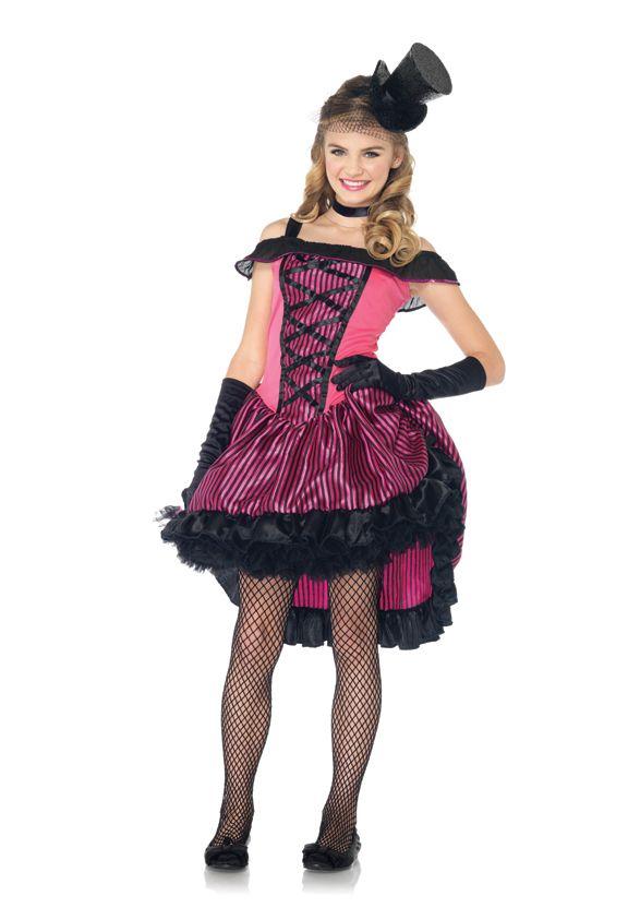 unique tween halloween costumes cancan girl teen costume - Teenage Girl Pirate Halloween Costumes