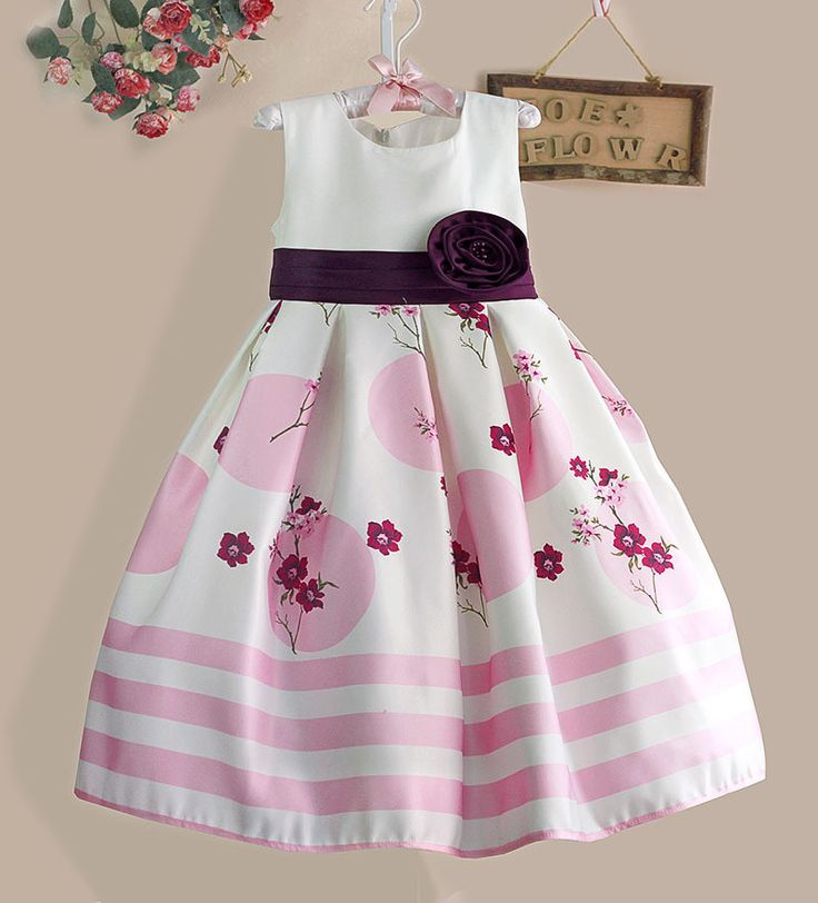 Our item of the day!  Girl's Party Dres... Check it out here: http://eden-online-boutique.com/products/girls-party-dress-floral-white-pink-striped-size-3-8-years-old?utm_campaign=social_autopilot&utm_source=pin&utm_medium=pin
