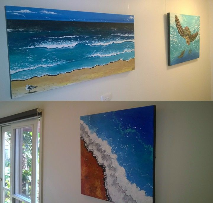 Our art gallery is installed. Our first featured artist is Sally Ford (www.sallyfordartworks.com)