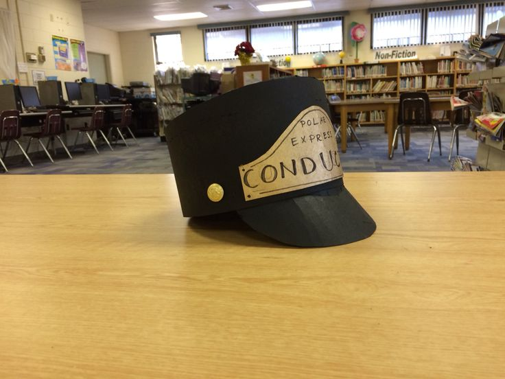 DIY Polar Express Conductor Hat