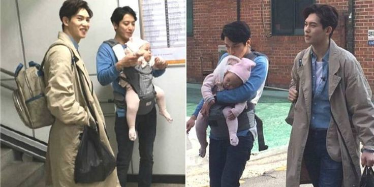 CNBLUE's Yonghwa + Jonghyun spotted with Eugene and Ki Tae Young's baby | http://www.allkpop.com/article/2016/03/cnblues-yonghwa-jonghyun-spotted-with-eugene-and-ki-tae-youngs-baby