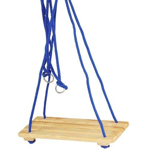 Schommel zo hard en hoog als je kunt met deze houten schommel die zowel binnen als buiten opgehangen kan worden. Het plankje bestaat uit 4 houten latten. Plankje: 40 x 17,4cm Optie met lang rood touw heeft een touwlengte van 180cm LET OP: het touw is rood in plaats van blauw! - Houten Schommelplank  -  Rood Touw