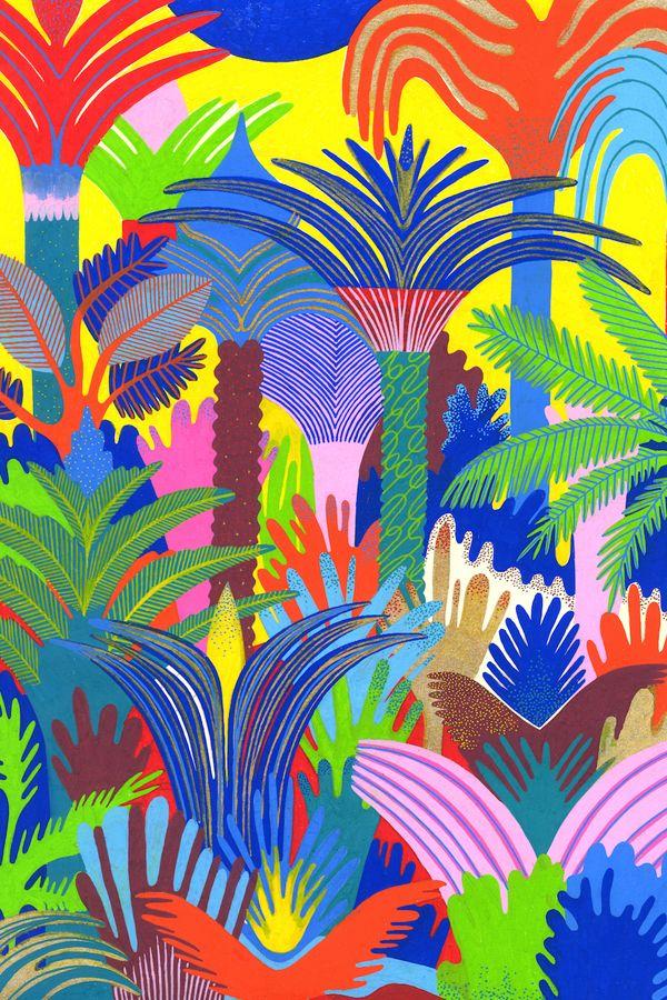 A Vibrant Color Palette Electrifies the Jungle Like You've ...