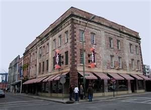 Our Lady & Sons restaurant (Paula Dean's restaurant).  Sooo not worth the hype. Wish we would've eaten somewhere on River Street.