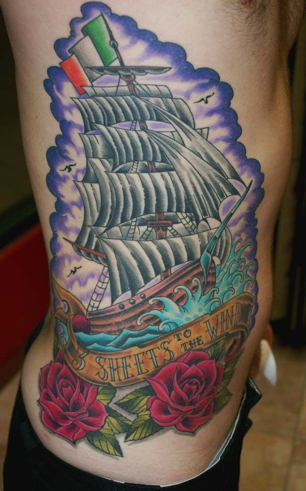 pirate ship tattoos - Google Search