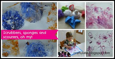 Craftulate: using scrubbers, sponges and scourers as painting tools.