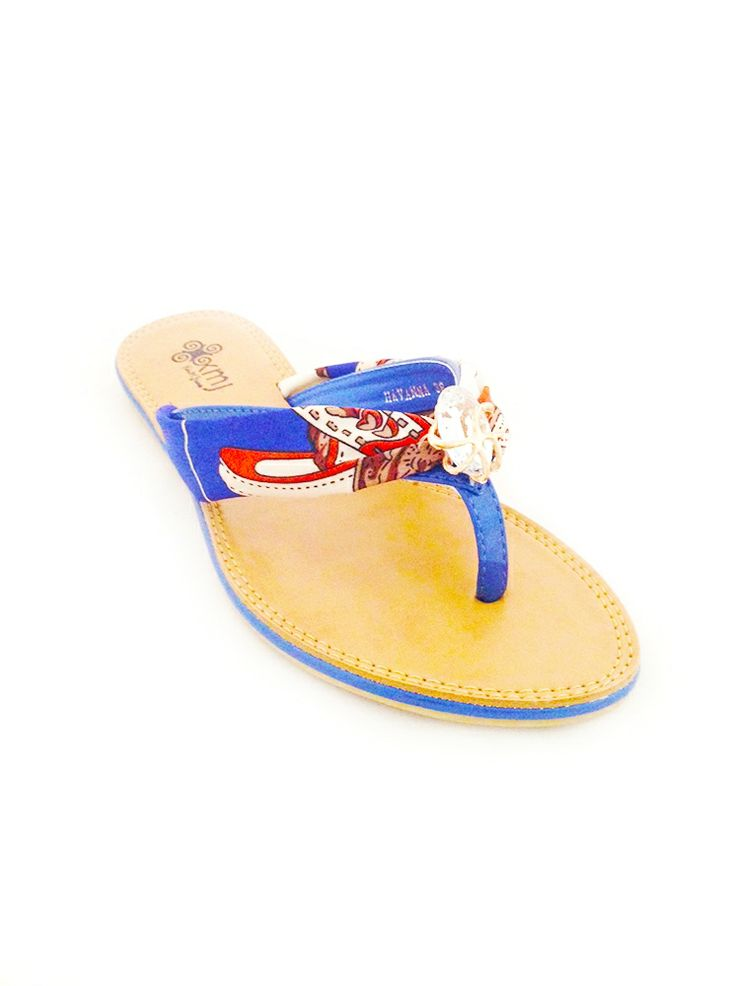 This cute little blue, red and white sandal is great for summer days. Available at www.kmjshoes.com.au