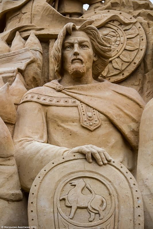 Grand Duke Vladimir Svyatoslavovich (960-1015) is known as Russian ruler who christened Russian people. The legend says until the age of 28 he was a great raver, a pagan, who persecuted Christians, murdered his brother Yaropolk and seduced his wife. After Vladimir chose Christianity between Judaism, Islamism and Catholicity he was christened and advanced Russian Orthodox Church within the country. He had got more than 13 children