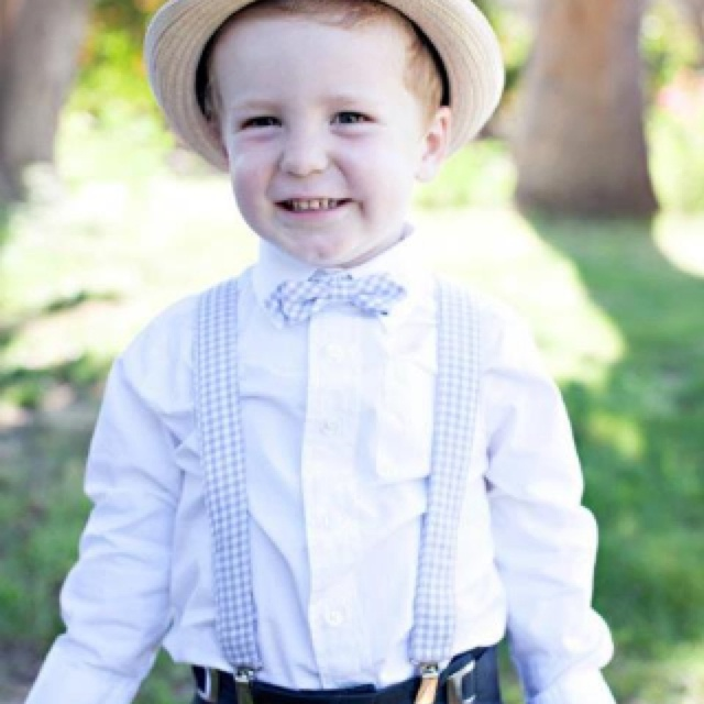 My sisters ring bearers outfit :)