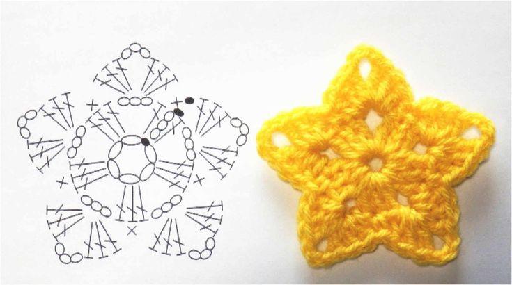 星のモチーフの編み方【かぎ針編み】How to Crochet Star Motif