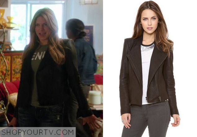Mistresses: Season 2 Episode 1 Josslyn's Black Leather Jacket - ShopYourTv