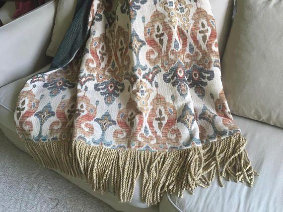 Teal Orange Throw Blanket Moroccan Wedding Blanket Decorator