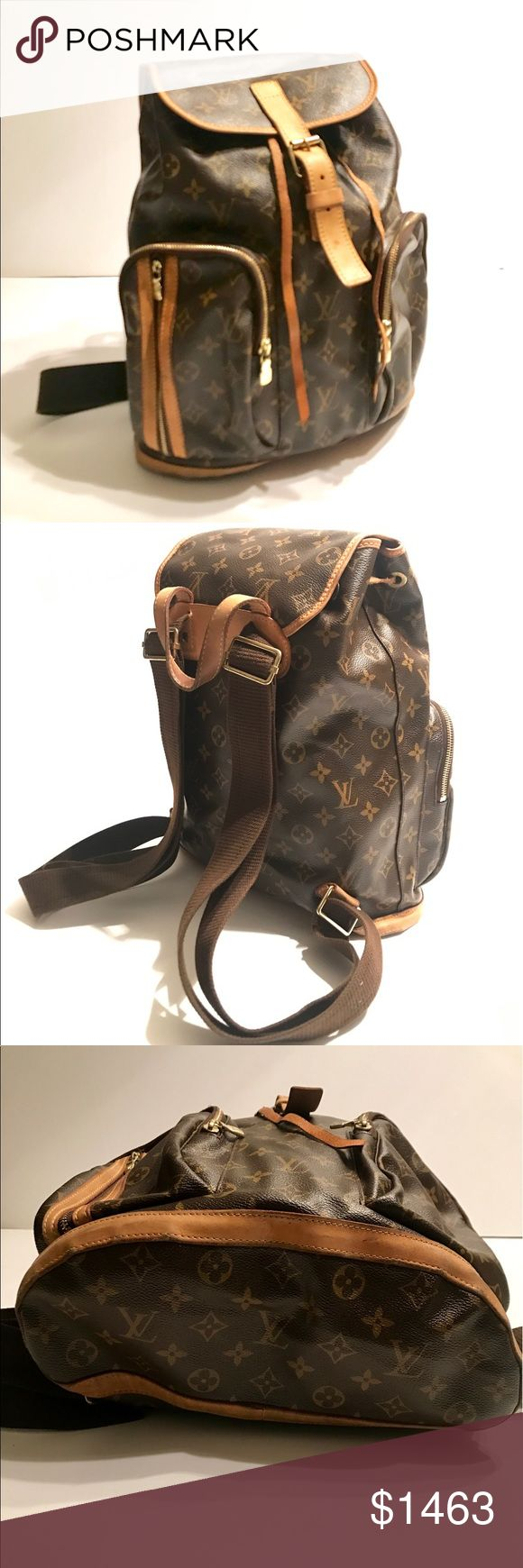 louis vuitton used bags. louis vuitton monogram bosphore backpack used bags backpacks