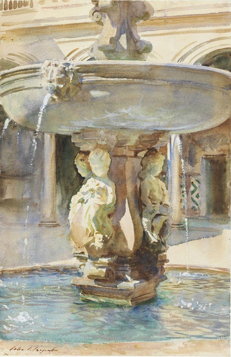 John Singer Sargent, hiszpański Fountain, 1912,