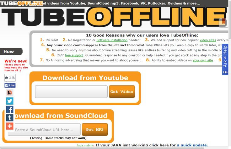 Download Videos From Youtube, Facebook, VK, SoundCloud Mp3 ...