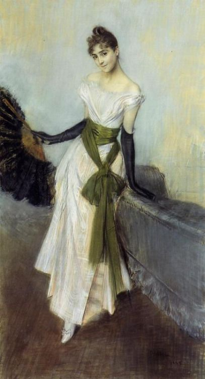 My Ear-Trumpet Has Been Struck By Lightning — Signorina Concha de Ossa by Giovanni Boldini, 1888...