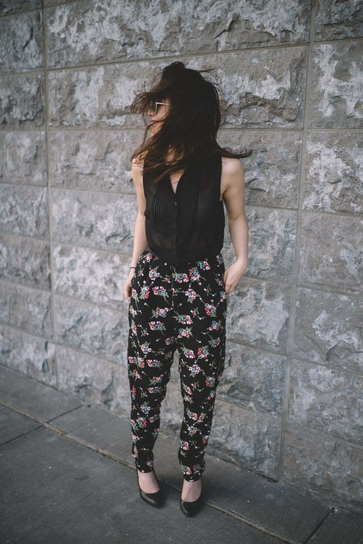 How To Style Patterned/Pyjama Pants: Floral Edition - whaddupbecks