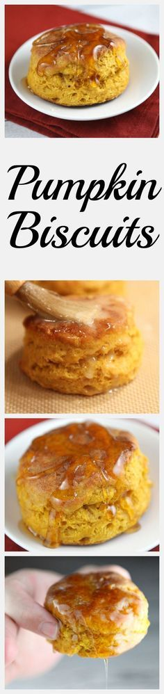 Pumpkin Biscuits - served warm and drizzled with honey! : recipegirl