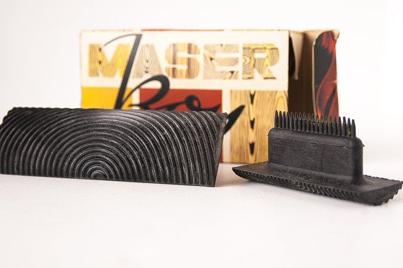 Vintage Wood grain Paint set, Collectible retro packaging, Maser Boy Germany