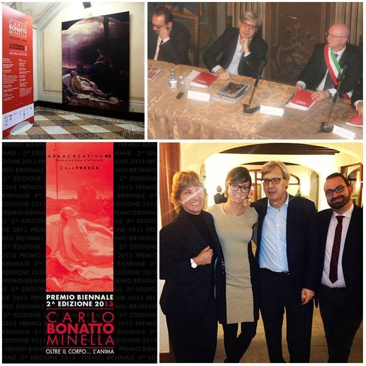 Inaugurazione della mostra dedicata alla seconda edizione del Premio Bonatto Minella. Catalogo Edizioni Lizea.  #edizionilizea #bonattominella #arte #cataloghi #lizea