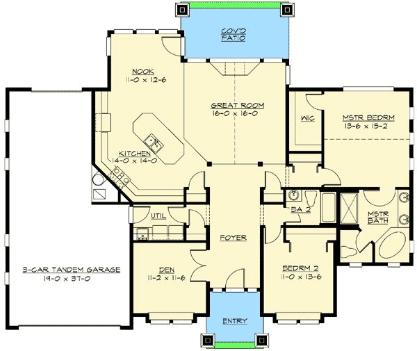 Garage Plans Blueprints 26 X 36 3 Car Traditional: 26 Best Floor Plan Options Images On Pinterest