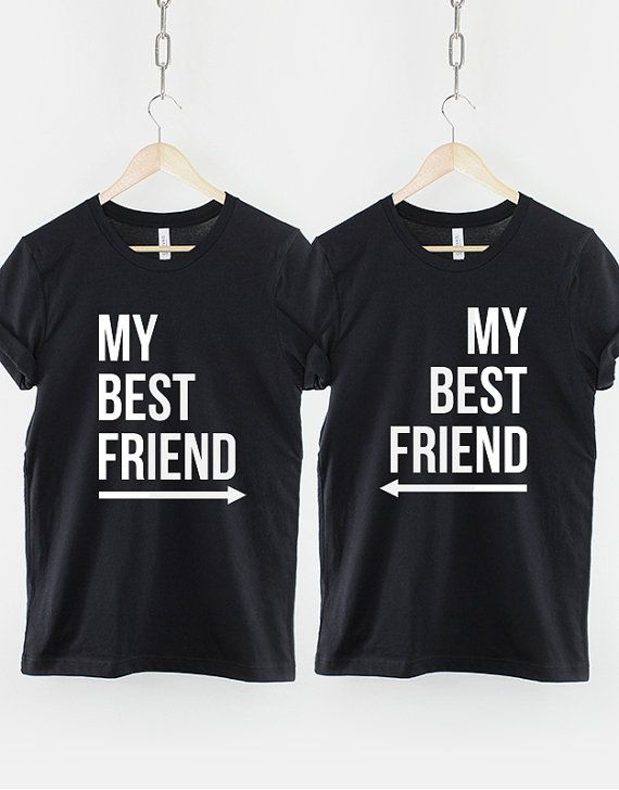 This is a pack of 2 Best Friends T-Shirts with arrows pointing Left, and Right. To Select 2 different sizes, simply leave a note for us with the 2 sizes you require in the notes section when checking out.  Thee best friend shirts are made of premium quality ring spun cotton for a great quality soft feel, and comfortable retail fit. Our soft textile flex print gives a really high end finish to any striking design. This high quality print will not crack or fade which ensures your garment stays…