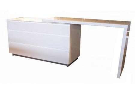Savvy Extension Dresser - White High Gloss