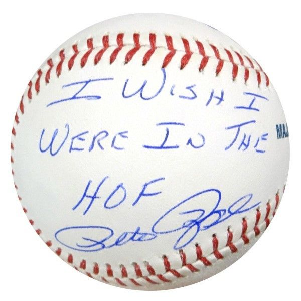 """Pete Rose Autographed Official MLB Baseball Cincinnati Reds """"""""I Wish I Were In The HOF"""""""" PSA/DNA Stock #59083"""