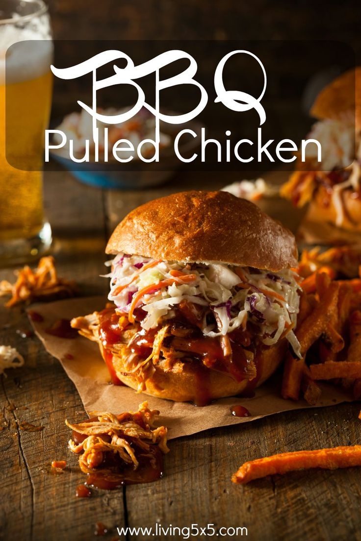 One of my favorite dishes for summer is BBQ Pulled Chicken recipe. I love pulled pork, but this was a healthier option and I was able to toss coleslaw, too.