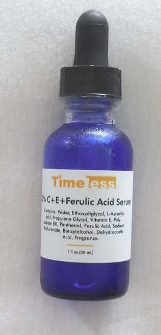 Timeless Skin Care 20% Vitamin C + E Ferulic Acid Serum, review on the blog