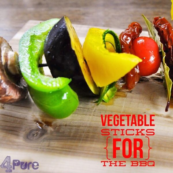 Vegetable sticks for the bbq or grill #vegetable #vegan #stick #bbq #grill #4pure http://www.4pure.nl