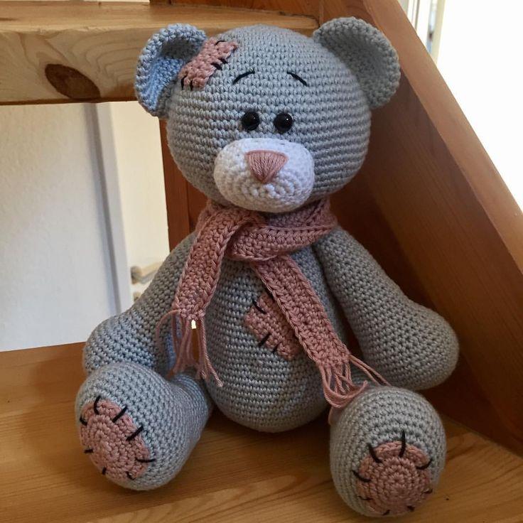 """30 Synes godt om, 1 kommentarer – Jane Hvid Frosch (@jane_frosch) på Instagram: """"Færdig med en lille kær bamse  #handmade #hækletlegetøj  #teddybear  #madebyme #hæklet…"""""""