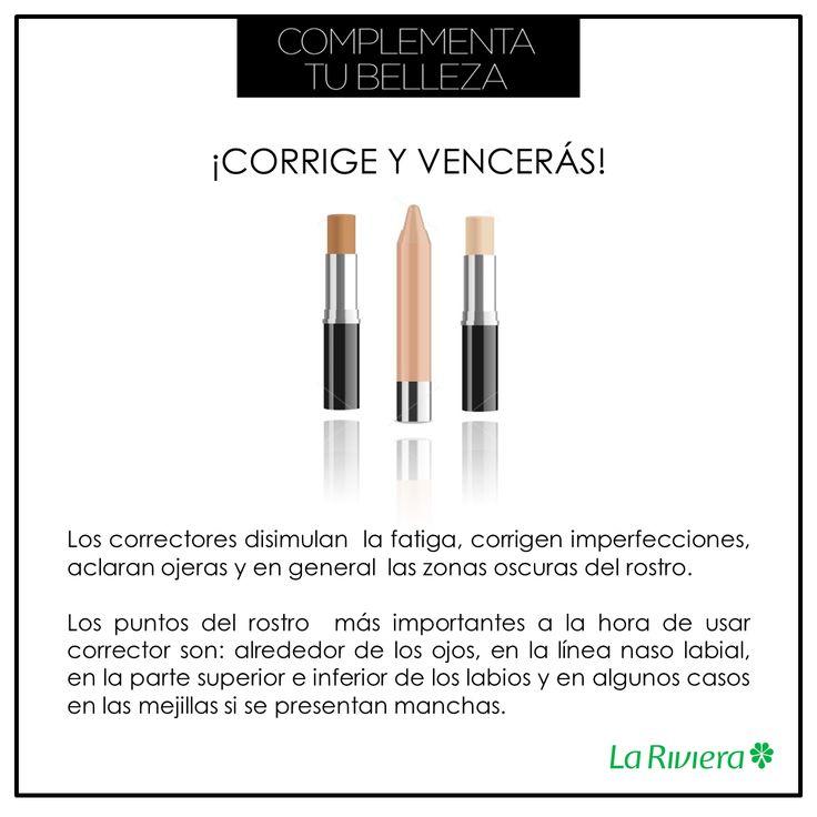 Los correctores no pueden faltar en nuestro kit de maquillaje y si es posible lleva uno en tu cosmetiquera. #TipsLaRiviera Etiquetar fotoAgregar ubicaciónEditar