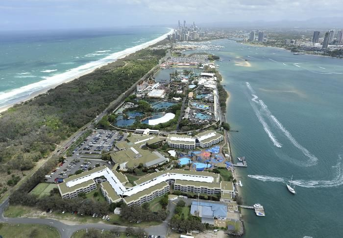 Aerial view of Sea World Resort & Water Park, Gold Coast