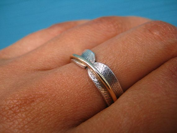 Narrow Bodhi Leaf Spinner Ring by stonesthrowjewelry on Etsy,