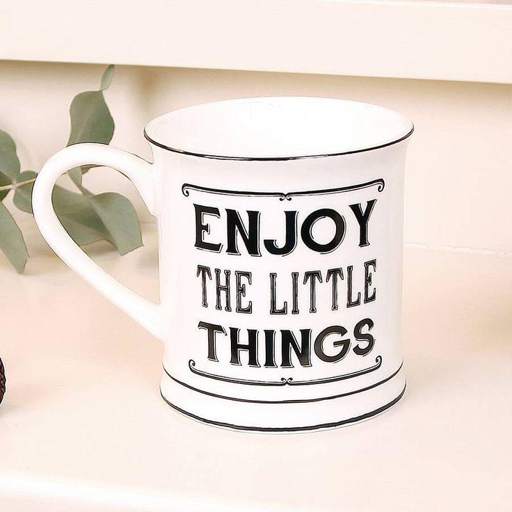 enjoy the little things mug by dibor   notonthehighstreet.com