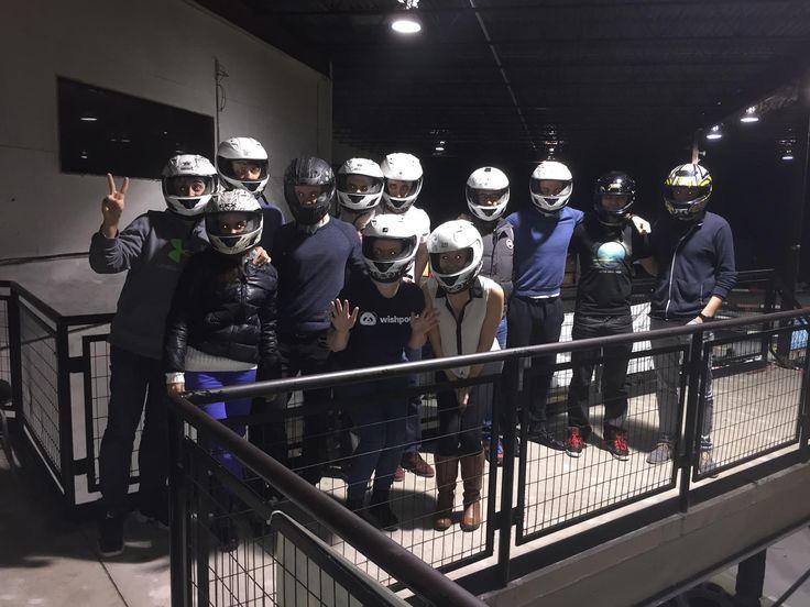 Go-karting was a blast!