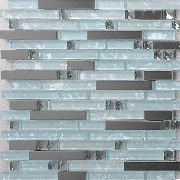 Stainless steel tile backsplash kitchen glass tiles glass mosaic bathroom tiles - modern - bathroom tile - other metro - My Building Shop
