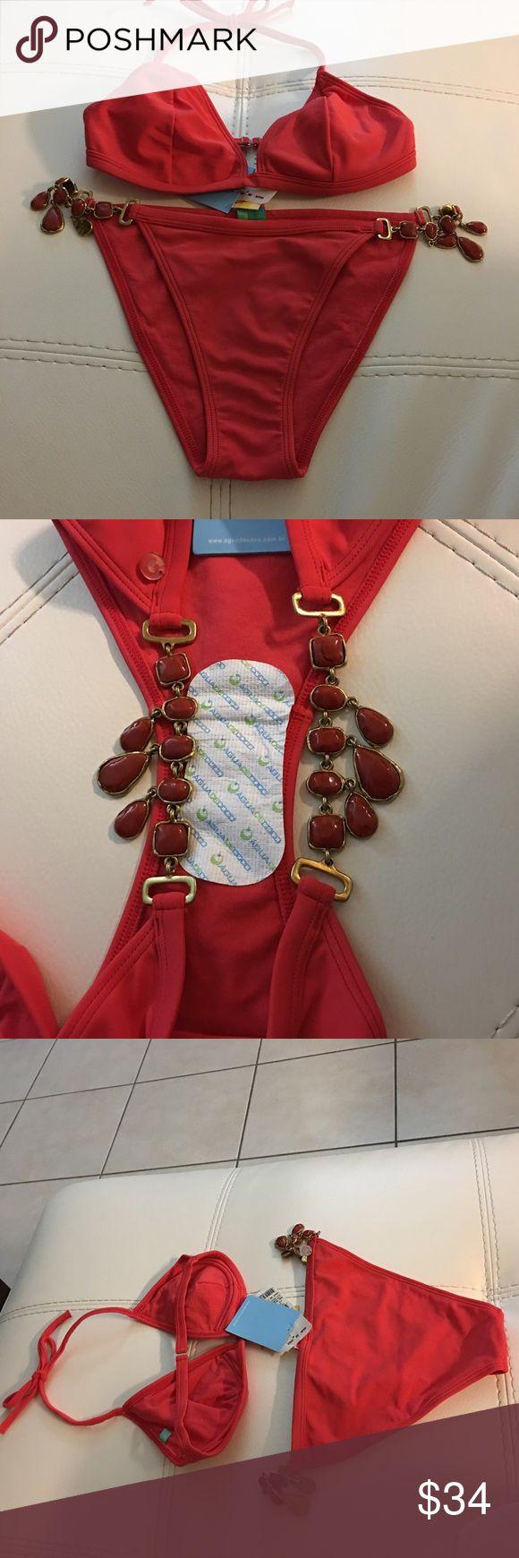 NEW Red Água de coco Bikini set top & bottom Red água de coco bikini top & bottom set má-fé in brasil in lycra Brand New with tags Swim Bikinis
