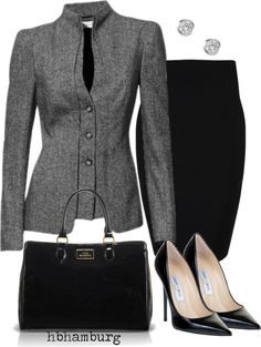 Classical and chic. Nice! Con tacones mas bajos, perfecto.