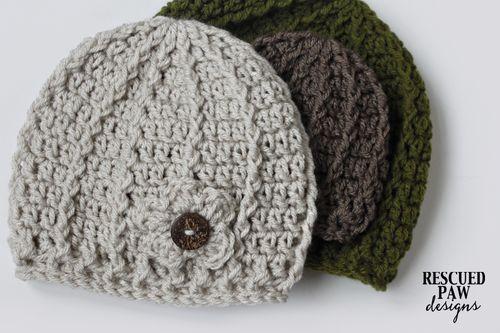 Free Crochet Pattern Swirl Hat Pattern - 3 Sizes Rescued Paw Designs