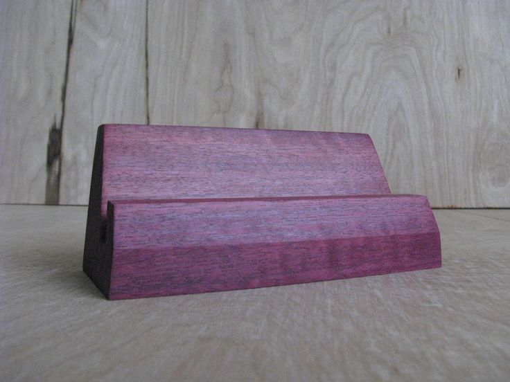 "Purple Heart Wood Business Card Holders - Holds Standard Business Card Size 3.5"" x 2"" by LastingMarkDesign on Etsy"