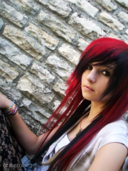 red and black hair... Close but too severe..