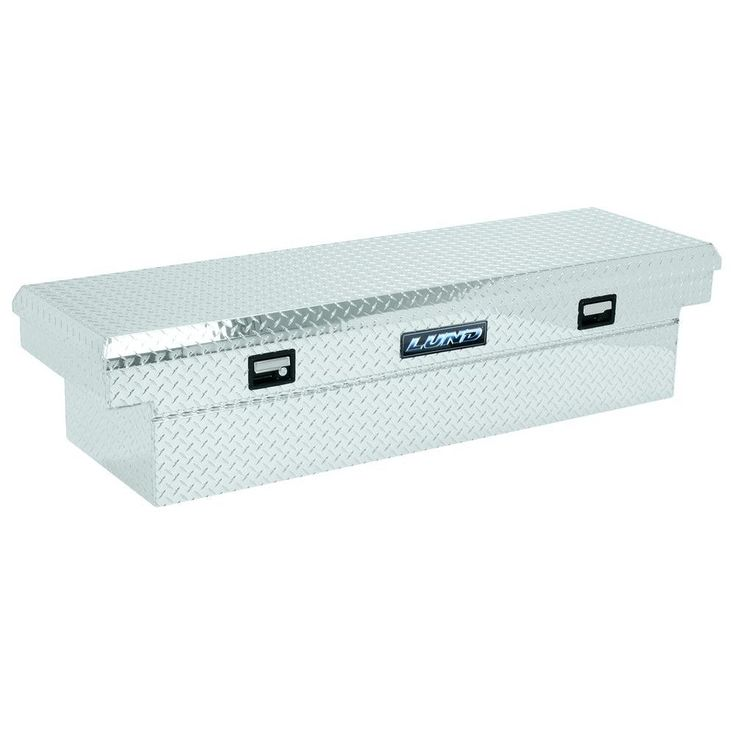 Lund 63 in. Mid Size Single Lid Aluminum Beveled Low Profile Cross Bed Truck Tool Box