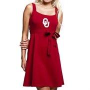 Oklahoma Sooners Ladies Crimson Campus Best Belted Sundress