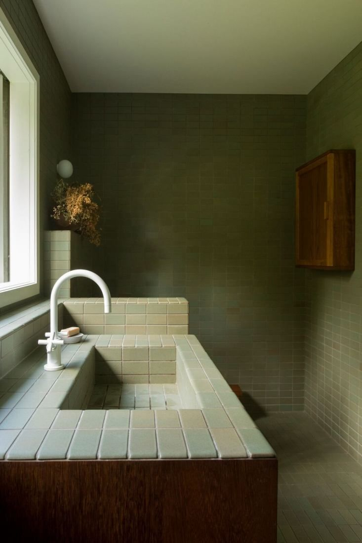 bathroom of the week two bath remodels with bold green tile in auckland