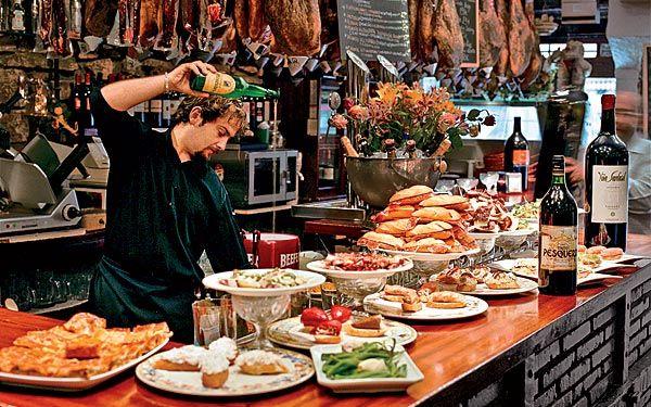 Pintxos are the Basque spin on tapas.  Seafood pintxos are especially good.  #TeaCollection