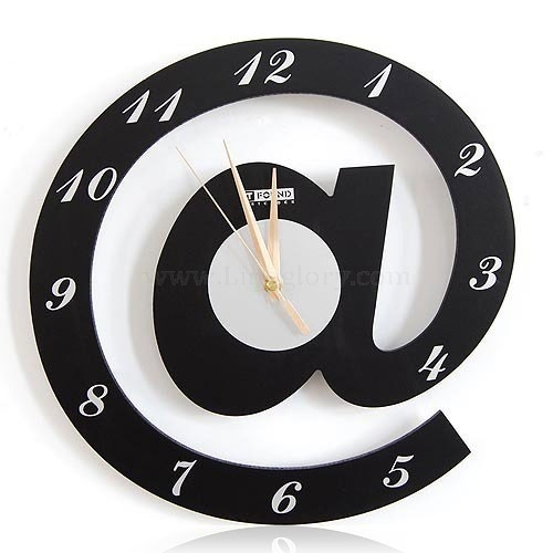 Letter @ Web Language Featured Wall Clock